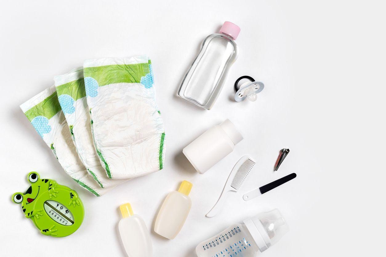 liste produits toilette bébé naissance