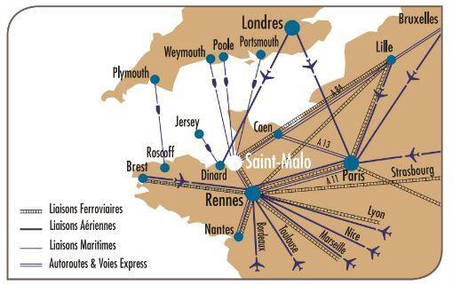 Comment se rendre aux Thermes Marins de Saint-Malo