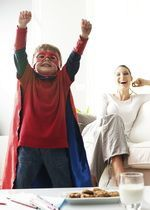 enfants et super-héros