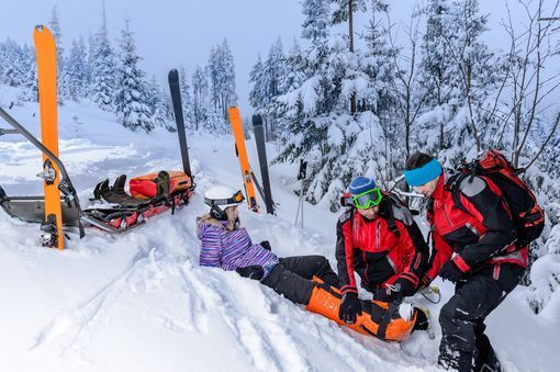 ski entorse genou