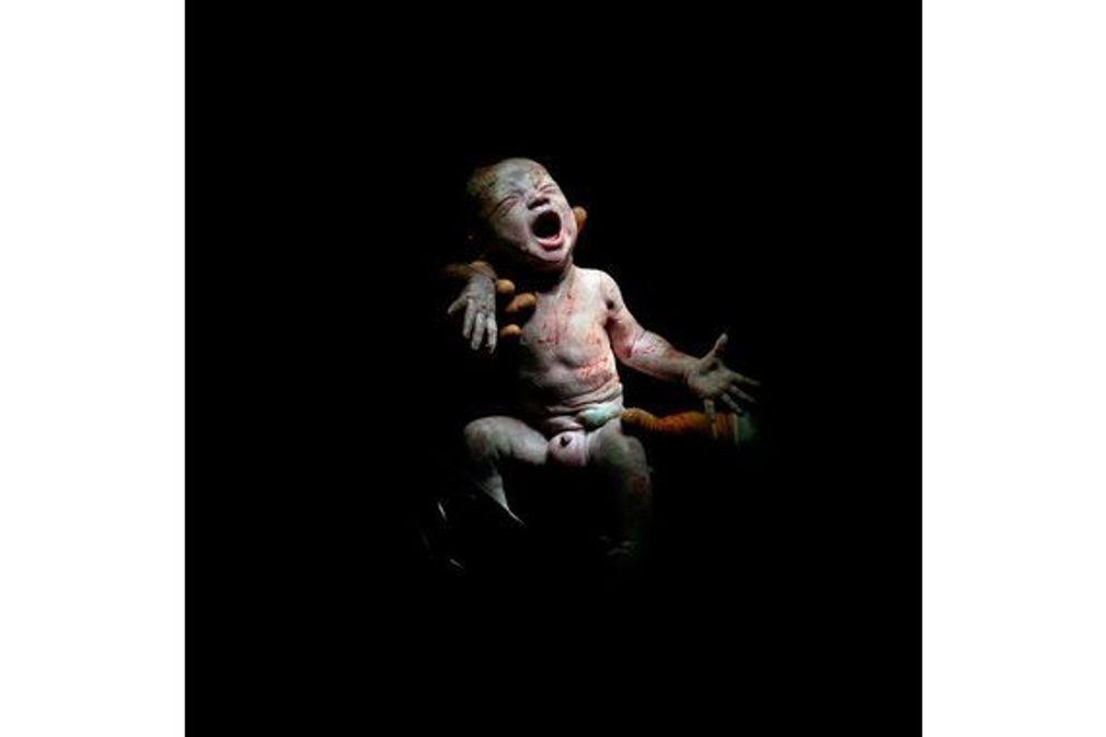 Portrait de bébés dans les premières secondes