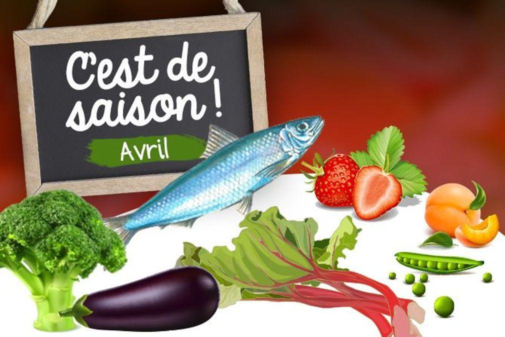 Avril : fruits, légumes et poissons de saison