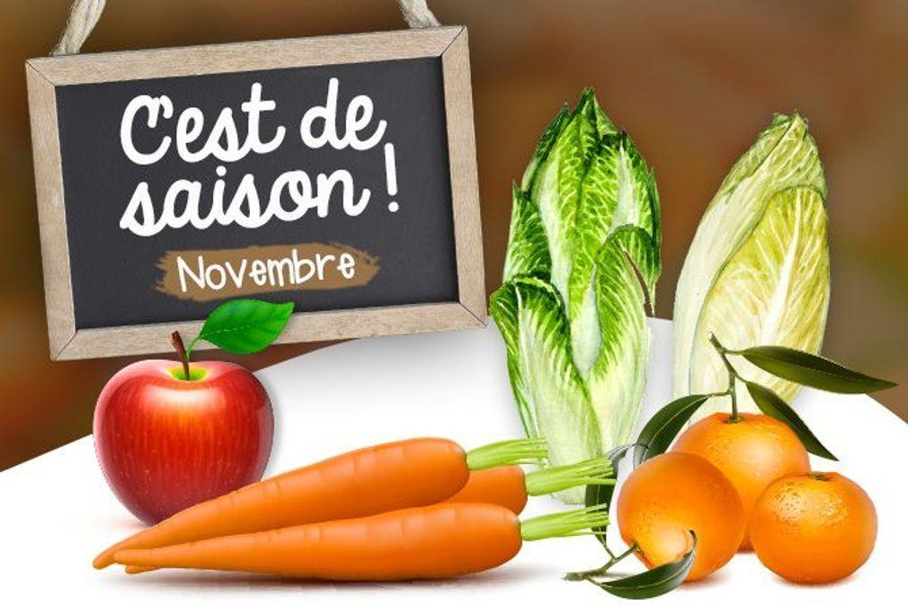 Novembre : fruits, légumes et poissons de saison