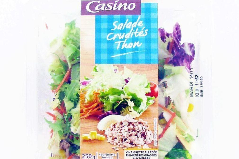 Rappel de salade crudités thon de la marque Casino