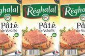 Rappel de pâté de volaille de la marque Réghalal