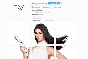 Kendall Jenner, égérie d'une collection d'appareils de coiffure