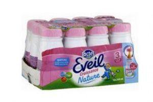 Rappel de lait de croissance Lactel pour risque de moisissures