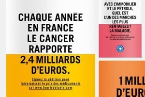 Campagne choc de Médecins du Monde contre le prix de certains médicaments