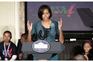 Michelle Obama s'engage contre l'obésité infantile