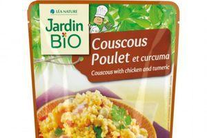 Rappel Couscous poulet et curcuma de Jardin Bio