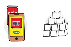 Scannez le code barre, l'appli vous donne la quantité de sucre
