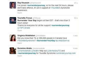 Opération de sensibilisation au syndrome Gilles de la Tourette sur Twitter