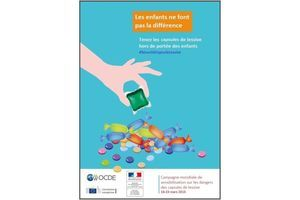 Capsules de lessive liquide : à tenir hors de portée des enfants !