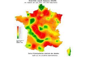Fin de l'épidémie de gastroentérite en France métropolitaine