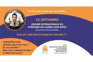 Journée internationale du syndrome des jambes sans repos