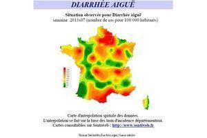La gastro-entérite encore présente dans quatre régions françaises