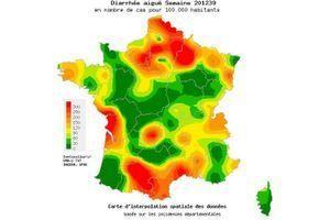 La gastro-entérite s'installe progressivement en France métropolitaine