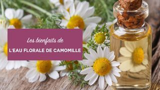 bienfaits eau florale de camomille