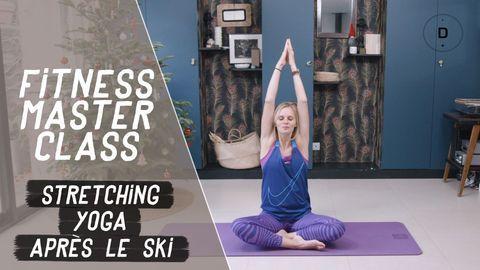 Stretching et yoga après le ski
