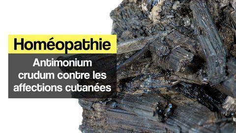 Antimonium crudum peau