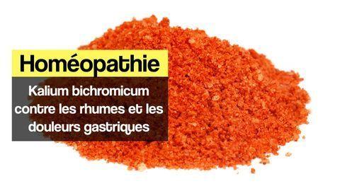 Kalium bichromicum homéopathie