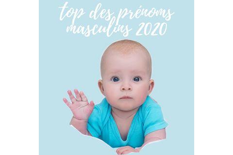 Top 20 des prénoms masculins 2020