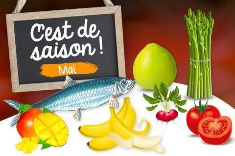 Mai : fruits, légumes et poissons de saison