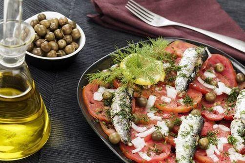 saumon, légumes