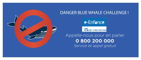 message e-Enfance blue whale challenge