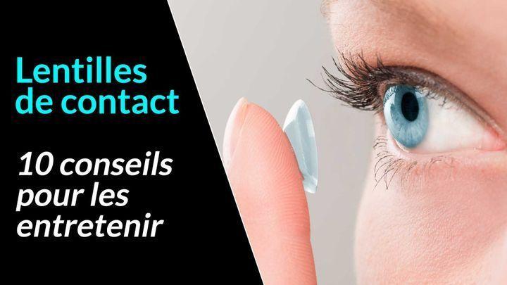 conseils d'hygiène pour les porteurs de lentilles