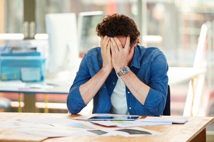 Hommes victimes du stress