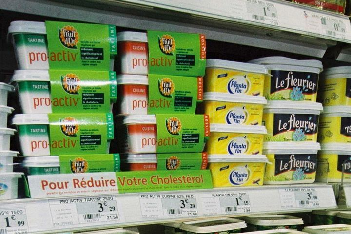 margarines anti-cholestérol