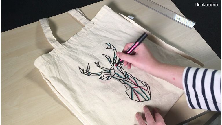Noël  customisez un tote-bag