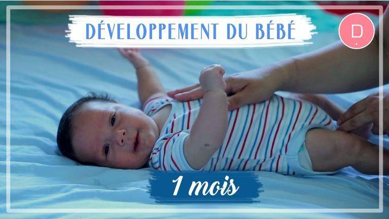 développement bébé 1 mois