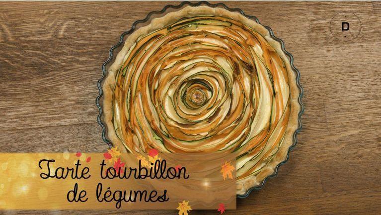 Tarte tourbillon de légumes