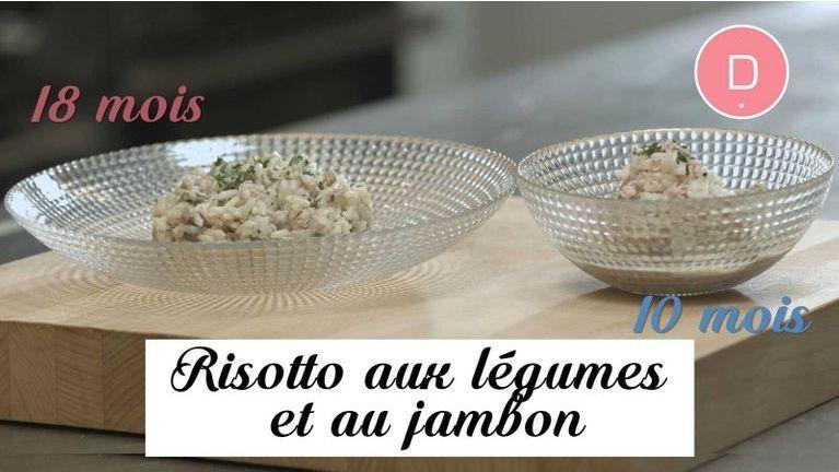 Risotto aux légumes et au jambon –  Recette Bébé 10 mois / 18 mois