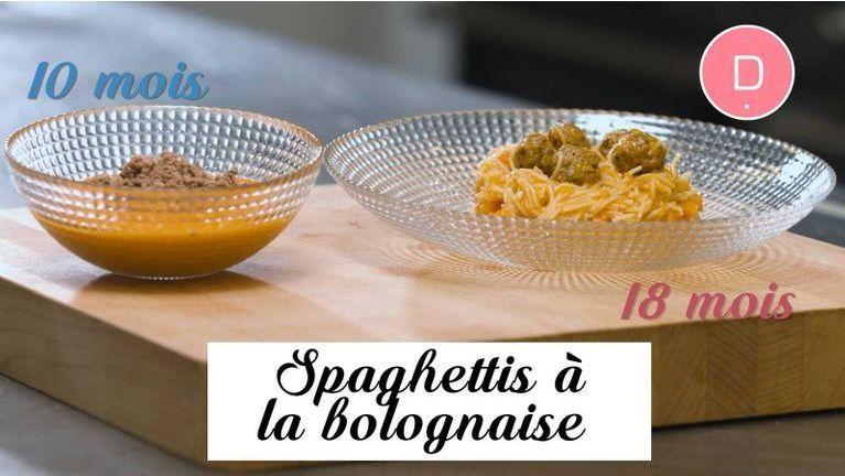 recette spaghettis bolognaise bébé