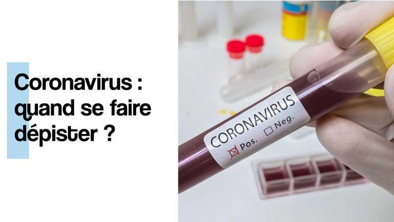coronavirus : quand se faire dépister ?