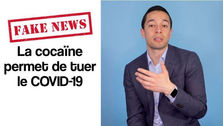 Fake news : La cocaïne permet de tuer le Covid-19