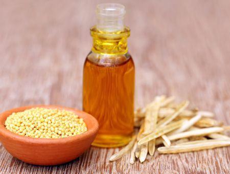 L'huile de moutarde, pour la pousse des cheveux