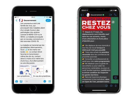 Coronavirus : le Gouvernement lance deux chatbots sur WhatsApp et Messenger