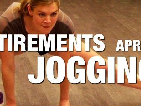 Etirements après un jogging
