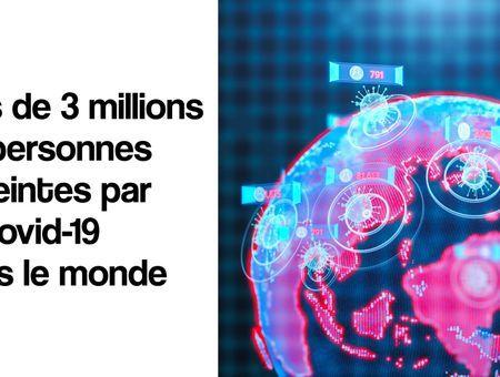 Covid-19 : plus de 3 millions de malades dans le monde