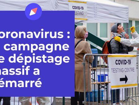 Coronavirus : la campagne de dépistage massif a démarré