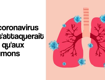 Le coronavirus ne s'attaquerait pas qu'aux poumons