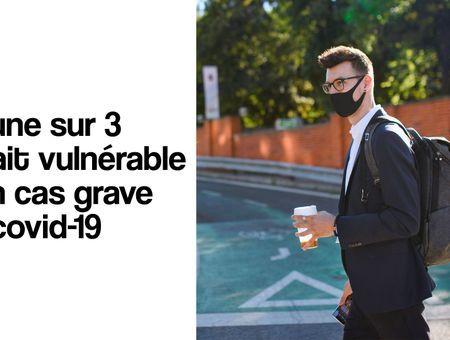 1 jeune sur 3 serait vulnérable à un cas grave de covid-19