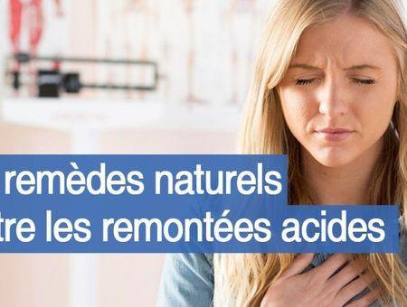 Solutions naturelles contre les remontées acides