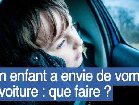 Peut-on prévenir les vomissements des enfants en voiture ?