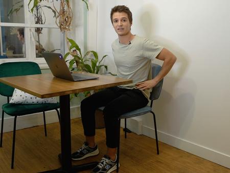 La bonne posture lorsqu'on travaille à la maison