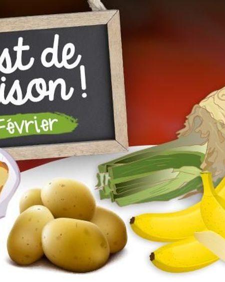 Février : fruits, légumes et poissons de saison